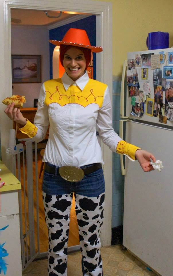 Homemade Jessie cowgirl costume from Toy Story-- picture only