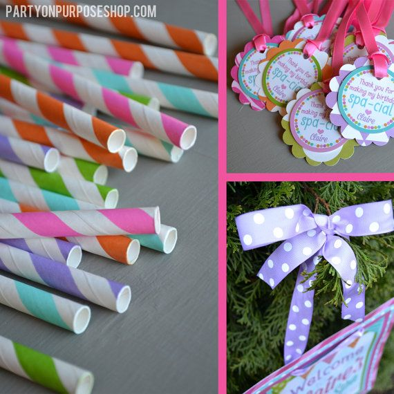 Spa Birthday Party Decorations Package Day by PartyOnPurposeShop