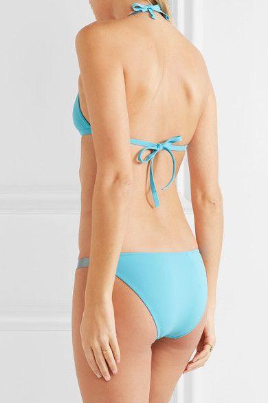 La Perla - Plastic Dream Pvc-trimmed Bikini Briefs - Turquoise - 5