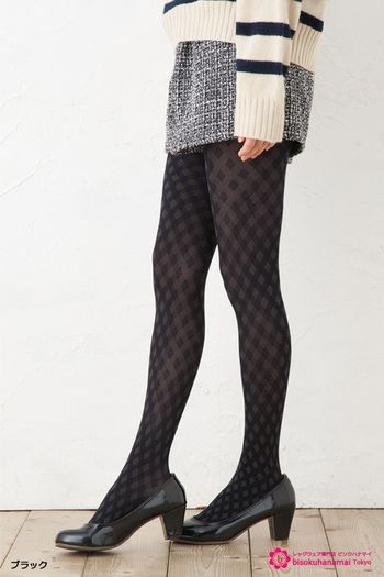 Fukuske f-ing Little check patern tights BLACK JPY1,000(without TAX)