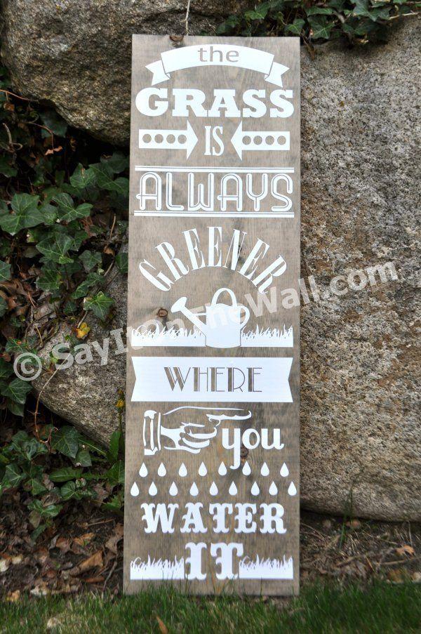 greener grass: Vinyls Decals, Gifts Ideas, Grass, Quote, So True, Gardens, Greener Signs, Just Love, I Am