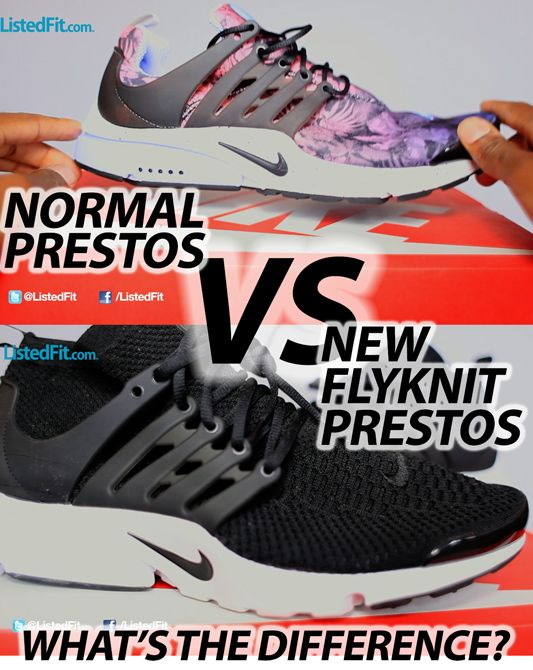 Nike Presto Flyknits have just been released so I take a look at these new Prestos and try to figure out if the Flyknit addition to this Nike classic trainer makes any difference. - #nike #presto #flyknit #sneakers - http://listedfit.com/nike-presto-flyknit-ultra-flyknit-review.html