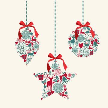Vector Christmas sales discount labels