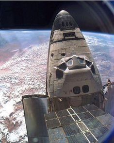Space shuttle Atlantis from the international space station