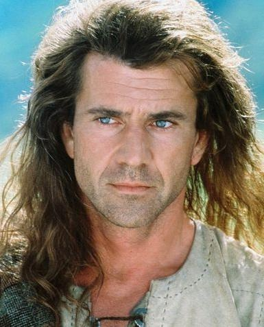 Mel Gibson (I didn't say I admire him. I just think he's purdy to look at)