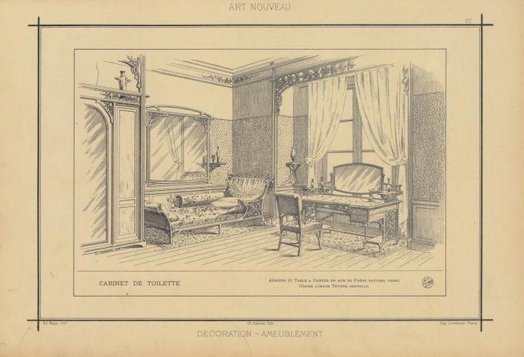 107 best art nouveau interior images on pinterest for Arredamento art nouveau