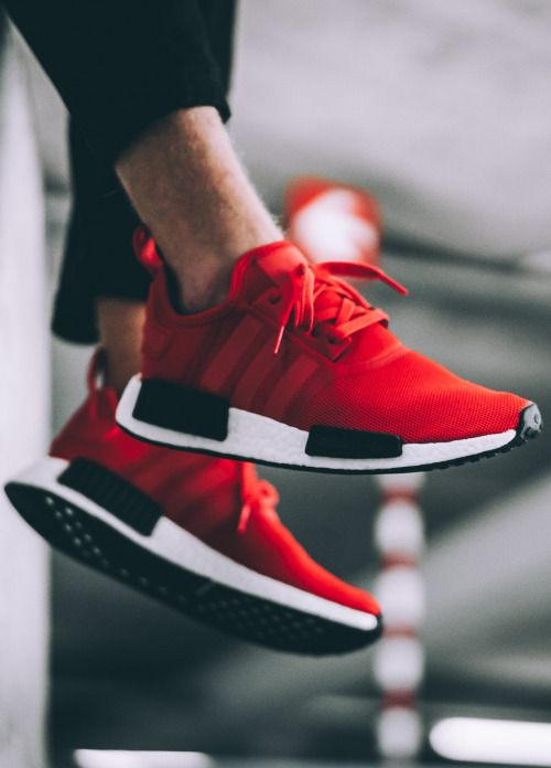 uk availability cb410 3a7db Buy adidas nmd r1 mens red - 64% OFF