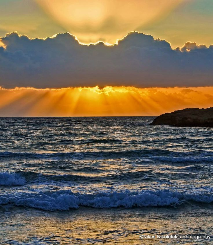 """""""Heaven is a place on Earth?"""" Sunset at Kalathas beach in Chania. Happy evening!"""
