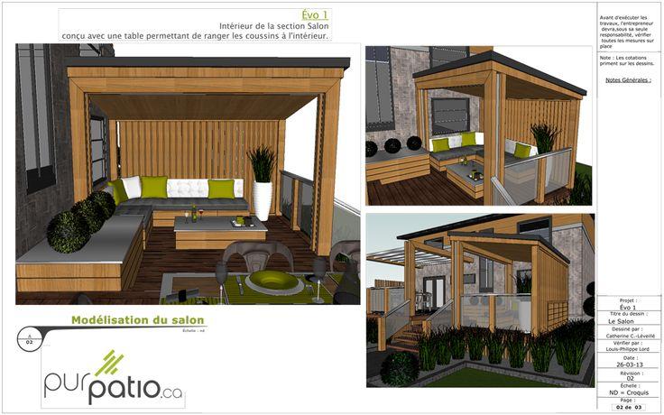 8 best design de patio personnalis images on pinterest for Patio et terrasse plan