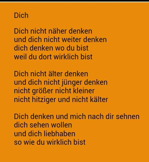 Dich - Erich Fried (die wohl aller schönste Liebeserklärung der Welt)