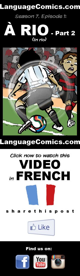 #French practice and pronunciation. Enjoy and share! https://www.youtube.com/watch?v=x7IyiAvkI40