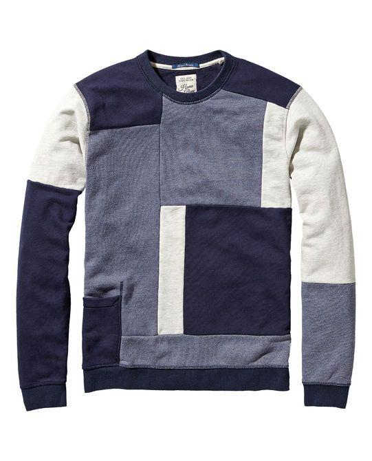 Sweat-shirt patchwork Home Alone - Scotch                                                                                                                                                                                 Plus