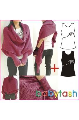 Стильный шарф для кормления брусничного цвета Babytash...ох, сколько ж я за ним уже гоняюсь!!!