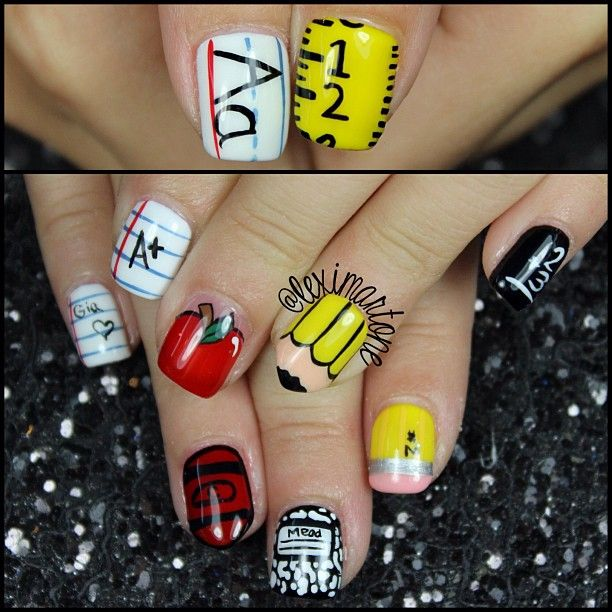 Top 25+ Best School Nail Art Ideas On Pinterest