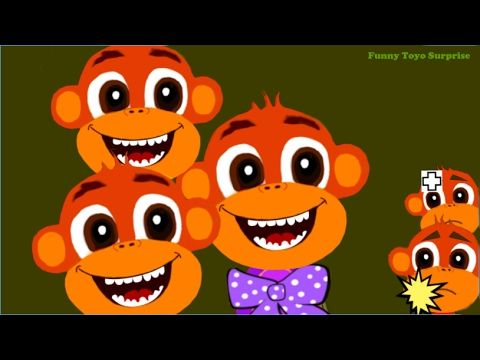 Songs Five Little Monkeys Jumping on the Bed Children Nursery Rhyme - YouTube