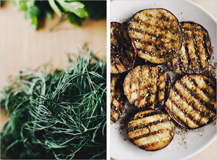 SPROUTED KITCHEN - Grilled Eggplant with Herbed Quinoa