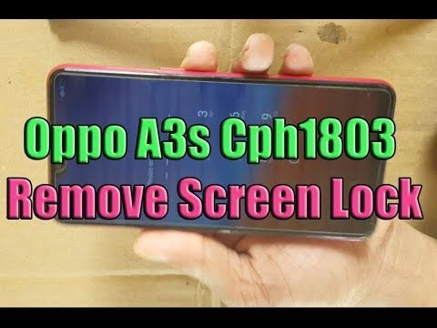 Oppo A3S cph1803 Device with screen lock remove ,Oppo A3s