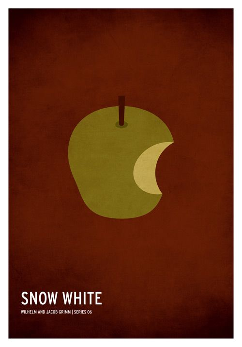 Snow White Minimal Poster. Minimal Classic Children Story Posters by Christian Jackson #minimalism #graphic