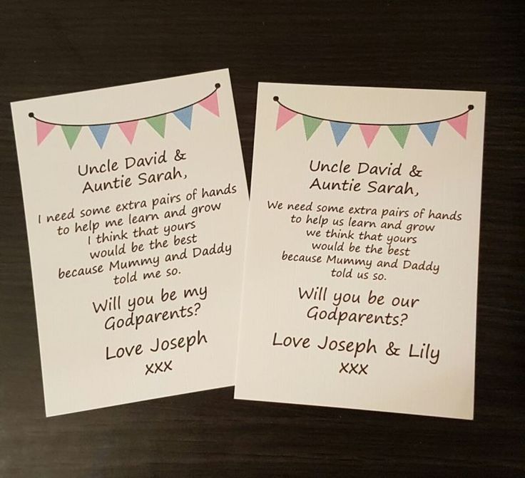 will you be my    our godmother godfather godparents poem