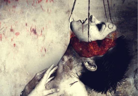 Horror Sexy Bloody Girls | Bildet av denne røde kvinne er fantastisk. Også digital art.