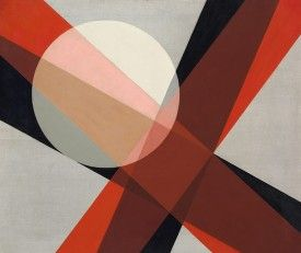 László Moholy-Nagy A 19, 1927. Oil and graphite on canvas, 80 x 95.5 cm. Hattula…