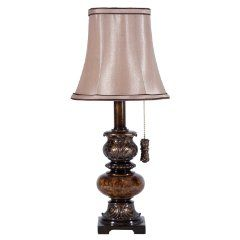 small brown accent lamp with pullchain small accent table lamps p. Black Bedroom Furniture Sets. Home Design Ideas