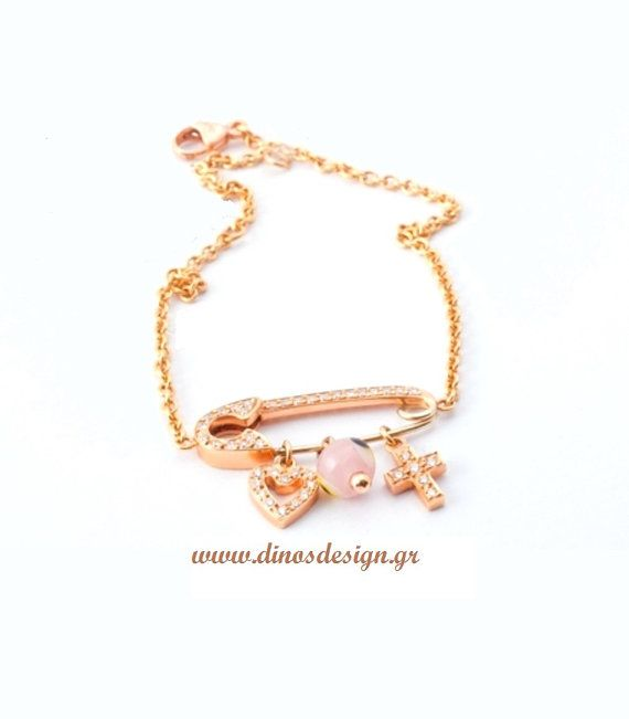 Pink Gold Bracelet. High Fashion Jewelry. Gift for her. Birthday Gift. Handmade Bracelet.