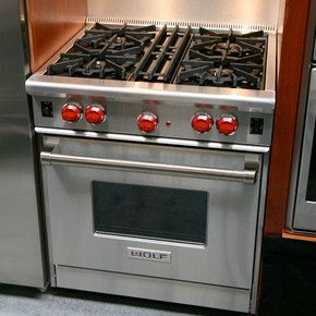 30 inch wolf gas range- I would love to have a gas range, that's what I've cooked on the last five years, can't imagine going back to electric!