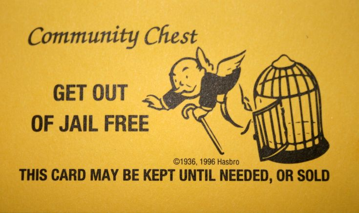 Monopoly Get Out Of Jail Free Card Printable Quality