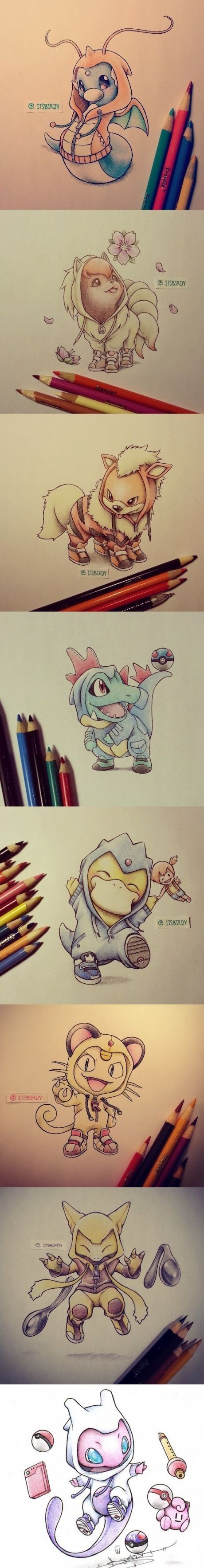 Linea de dibujos pokemon
