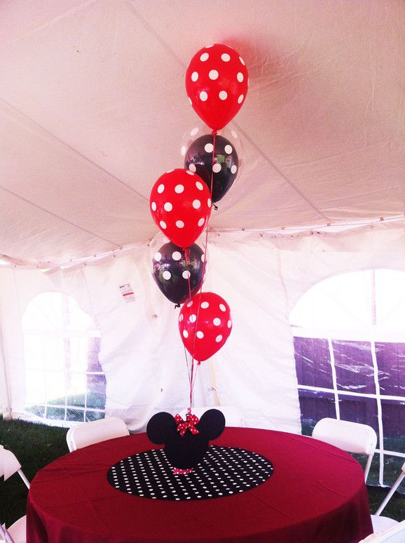 1000 ideas about mickey minnie centerpieces on pinterest for Balloon decoration minnie mouse