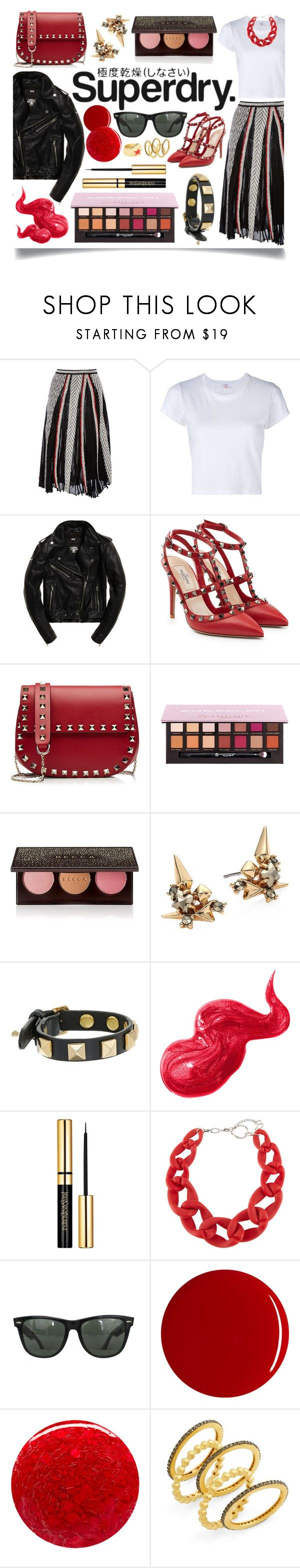 """""""The Cover Up – Jackets by Superdry: Contest Entry"""" by ittie-kittie on Polyvore featuring Emilio Pucci, RE/DONE, Superdry, Valentino, Anastasia Beverly Hills, Becca, Alexis Bittar, Rebecca Minkoff, Bobbi Brown Cosmetics and DIANA BROUSSARD"""