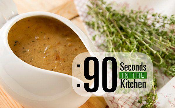 90 Second Thyme Cream Gravy