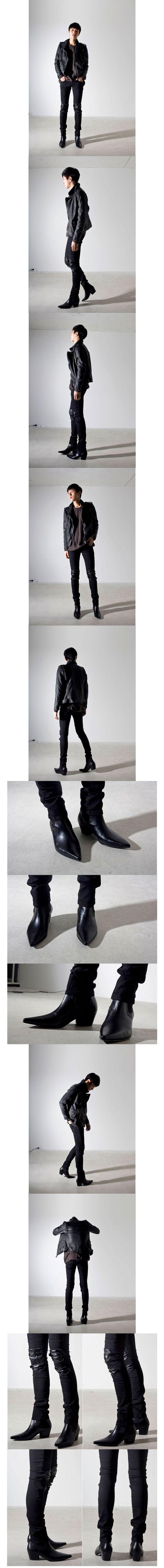 Size38 44 2014 hombres de moda puntera en punta de cuero genuino del alto top elegante aumento de la altura tendencia coreano de botines de venta en Botas de hombre de Calzado en AliExpress.com   Alibaba Group