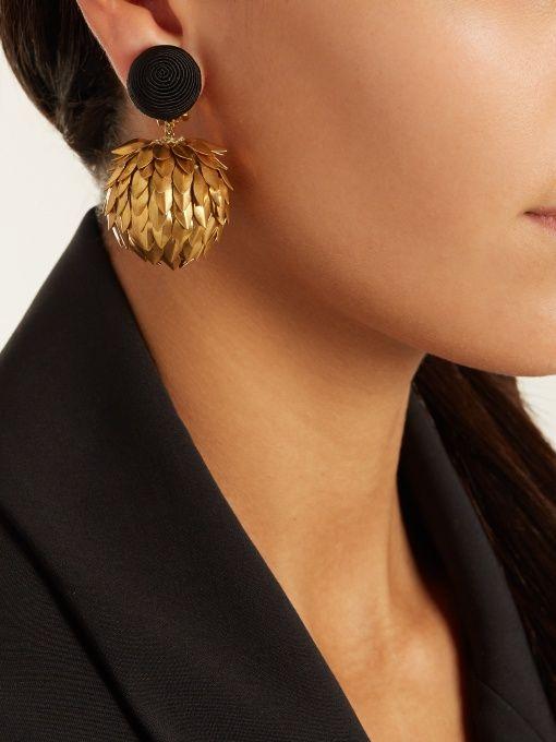 Lightening clip-on earrings   Rebecca de Ravenel