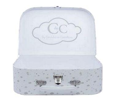 Une idée de cadeau pour un bébé: des vêtements CdeC joliment empaquetés dans cette valisette !