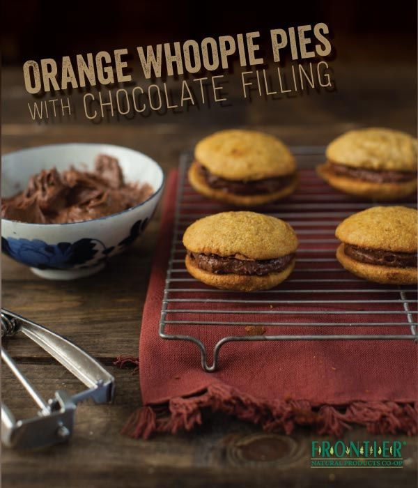 Orange Whoopie Pies with Chocolate Cream Cheese Frosting -- a more ...