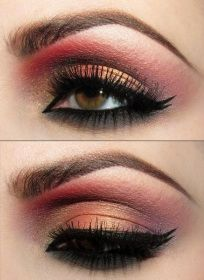 Rose and Gold Eye Inspiration for Ballroom Dancers