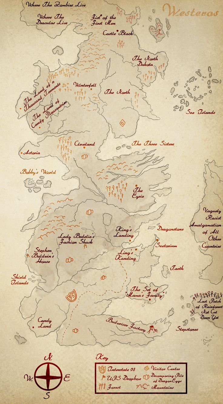 """This """"Game Of Thrones"""" Map Shows A Much More Detailed Westeros"""
