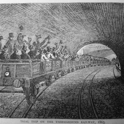 150 years ago the management of the Metropolitan Railway made the inaugural journey on the world's first underground. (picture from 'Old and New London' pub 1878)