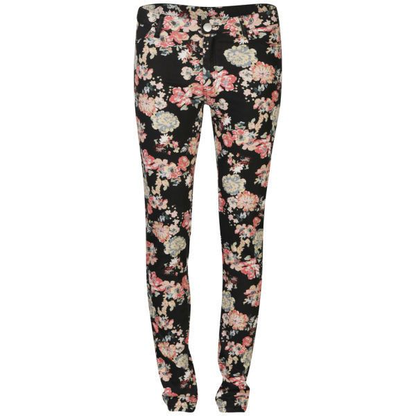 2nd One Women's Floral Printed Jeans found on Polyvore