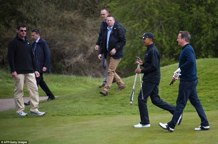 The game came as a break in a hectic schedule for Mr Obama, who had been in London earlier...