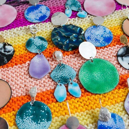 Getting prepared for the Melbourne @finders_keepers market on the 14/15/16 July! My studio is full of colourful earrings  It is hard to choose favourites but here are a few