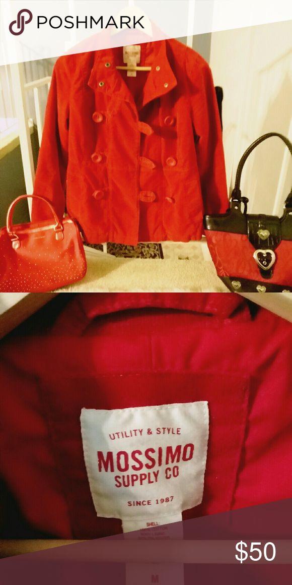 Classy n cute Red Mossimo pea coat sz Medium This is a classy and cute Mossimo red pea coat size Medium. Perfect for Valentine's day! Buy today and will ship tomorrow! Mossimo Supply Co Jackets & Coats Pea Coats