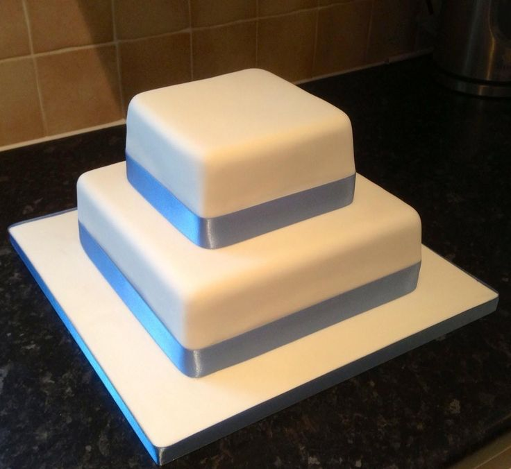 square 2 tier wedding cakes plain two tier wedding cake wedding cakes by cake 20340