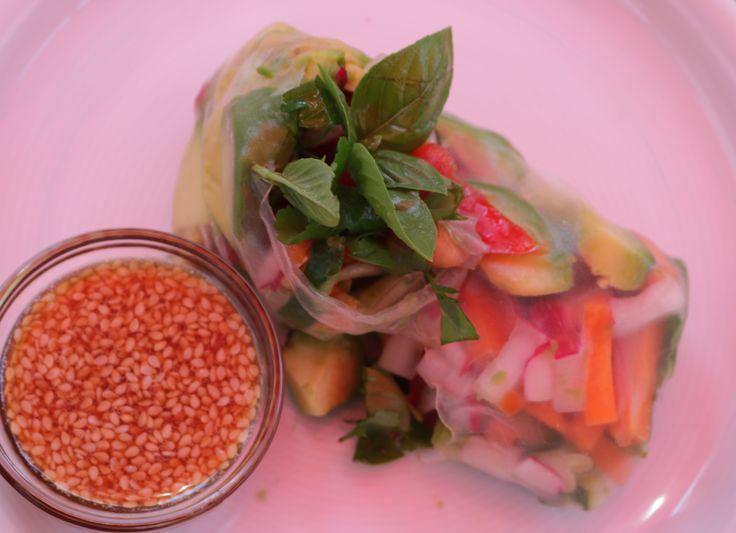 Meine Idee für heiße Tage – Heute wird der Salat gerollt :) #sommerrollen #f…