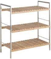 FYN Duke - Opbergrek - Schoenenrek met 3 planken - Bamboe en staal