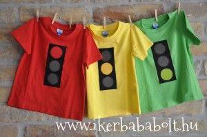 Közlekedési lámpás pólók