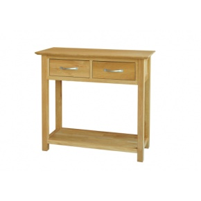 Canterbury Solid Oak MNT20 Console Table 2 Drawer   www.easyfurn.co.uk