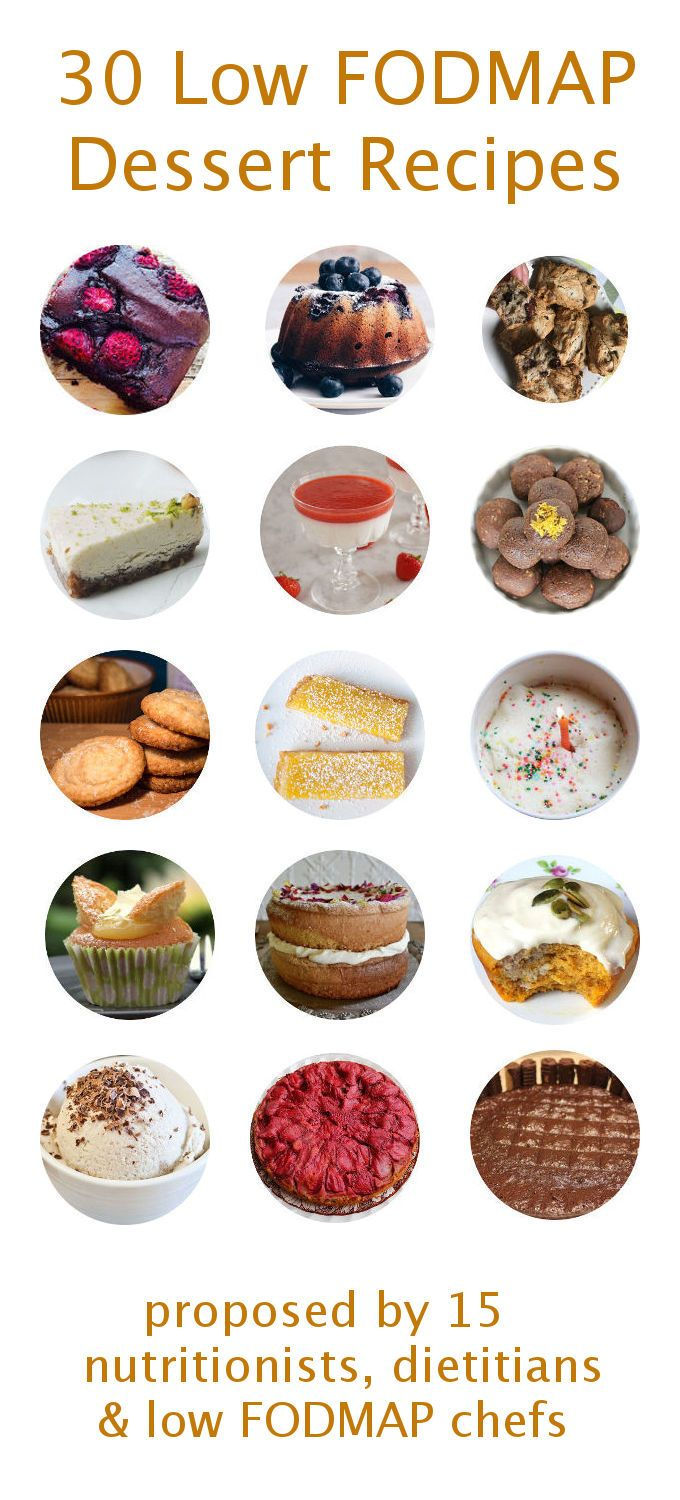 The 30 Best Low FODMAP Desserts organised by mygutfeeling.eu